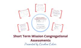 Short Term Mission Congregational Assessment