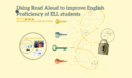 Building English of ELL students using Read Aloud