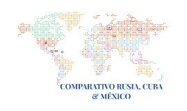 COMPARATIVO RUSIA, CUBA & MÉXICO