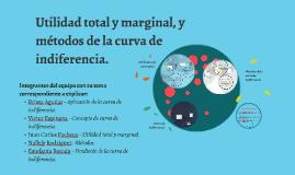 Utilidad total y marginal, y métodos de la curva de indifere