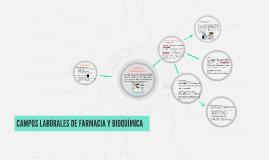 CAMPOS LABORALES DE FARMACIA Y BIOQUIMICA