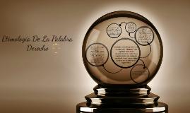 Etimologia De La Palabra Derecho