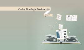 Poetry Readings-Modern Age