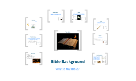 Creating the Bible