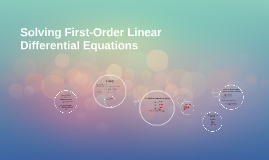 Solving First-Order Linear Differential Equations