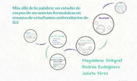 Más allá de la palabra: un estudio de corpus de secuencias f
