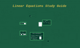 Linear Equations Study Guide