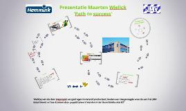 Presentatie Maarten Wielick