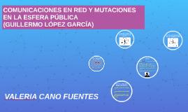 COMUNICACIONES EN RED Y MUTACIONES EN LA ESFERA PÚBLICA