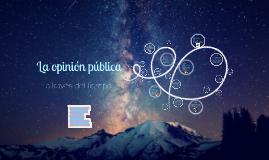 OPLínea del tiempo sobre la opinión pública