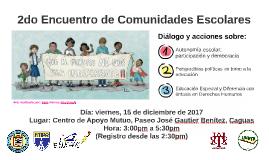 2do Encuentro de Comunidades Escolares