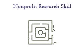 Nonprofit Research Skills