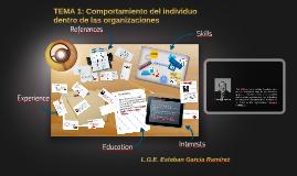 TEMA 1: Comportamiento del individuo dentro de las organizac