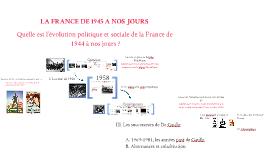 3ème - La France de 1944 à nos jours