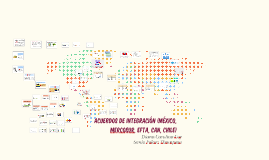Acuerdos de integración (México, Mercosur, EFTA, CAN, Chile)