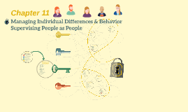 Chapter 11: Managing Individual Differences & Behavior Supervising People as People