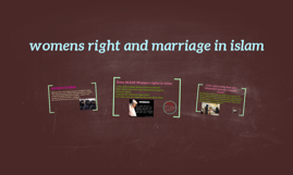 womens right and marriage in islam