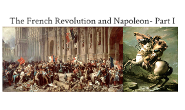 Copy of The French Revolution and Napoleon - Part I
