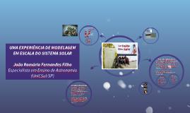 Uma experiência de modelagem em escala do Sistema Solar