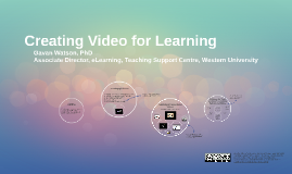 Creating Video for Learning (with narration)