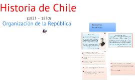 Historia de Chile:Organización de la república