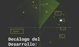 Copy of Decálogo del Desarrollo