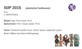 ISIP 2015 - Závěrečné hodnocení