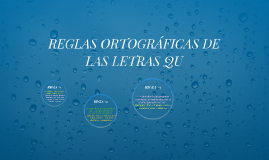 REGLAS ORTOGRÁFICAS DE QU
