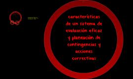 caracteristicas de un sistema de evaluacion eficaz y planeac