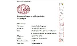 MA Dissertation, Cingolani 2017