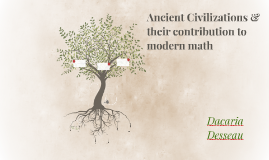 Ancient Civilizations & their contribution to modern math