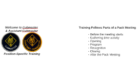 Cubmaster Training