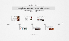 Genghis Khan Important Life Events