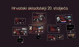 Hrvatski skladatelji 20. stoljeća