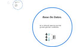 Base De Datos.