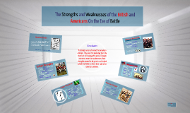 The Strengths and Weaknesses of the British and Americans on