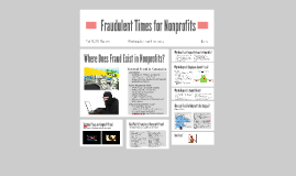 Fraudulent Times for Nonprofits
