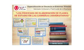 LOS PROCESOS DE ELABORACIÓN DE PLANES DE ESTUDIO EN LAS CARRERAS UNIVERSITARIAS - Seminario CPE