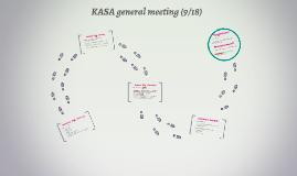 KASA general meeting (9/18)