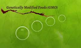 Genetically Modified Foods (GMO)