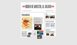 ÓRDEN DE ARRESTO, AL-BASHIR