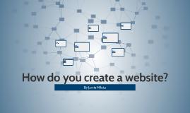 How do you create a website?