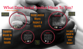 What Does Social Justice Mean To You?