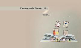 Elementos del Génro lírico