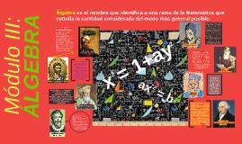 Módulo III.  ÁLGEBRA
