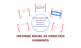 Informe Anual DDHH