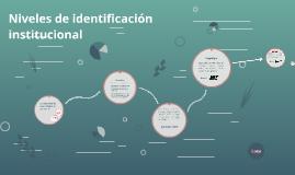 Niveles de identificación institucional