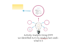 Activity Analysis Using OTPF