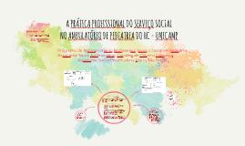 A PRÁTICA PROFISSIONAL DO SERVIÇO SOCIAL