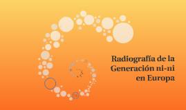 Radiografía de la Generación ni-ni en Europa